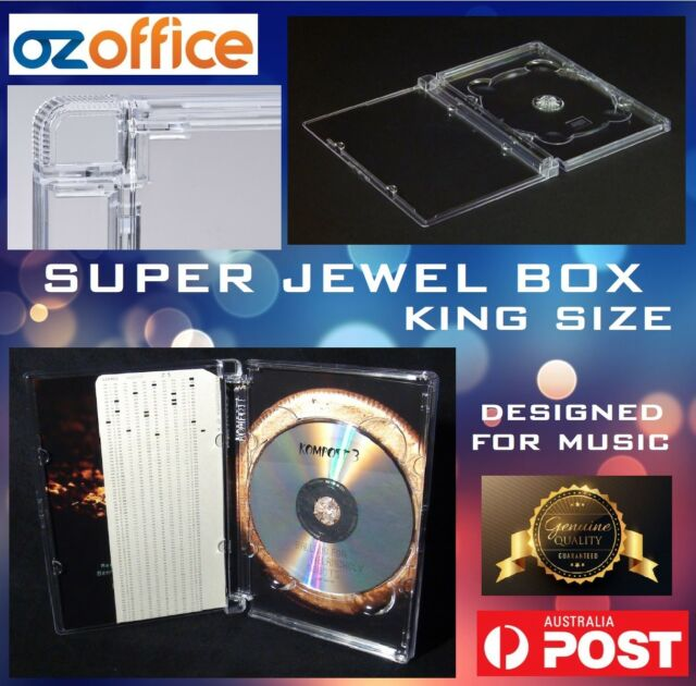 PREMIUM Super Jewel Box King Size Super Jewel Case CD DVD Super Audio Hinge Case