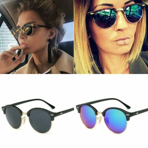 Classic Round Mirror Fashion Rays Sunglasses Men Women UV Protect 100/% UV400 Riv