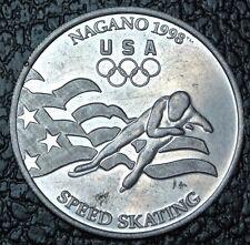 1998 US WINTER OLYMPIC TEAM SPEED SKATING MEDAL - Nagano - General Mills