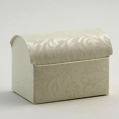50 IVORY CHEST WEDDING FAVOUR BOXES DIY PARTY BOX