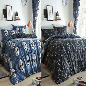 Pixel Totenschädel Einzelbett Bettbezug und Kissenbezug Set Wendbares Design