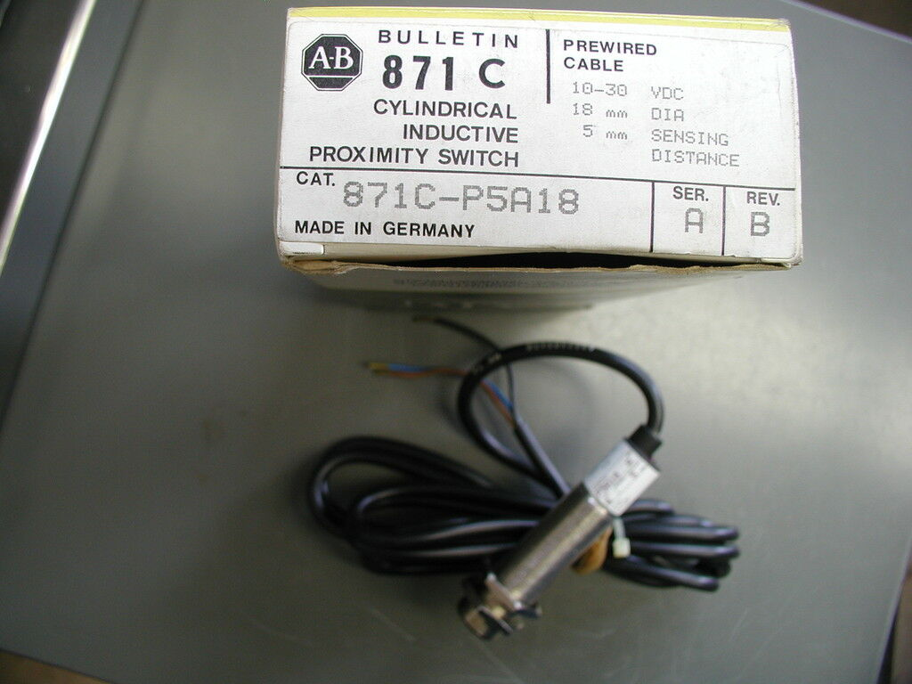 Allen Bradley Inductive Proximity Switch 871c P5a18 871cp5a18 Ebay 5 Wire Ac Diagram Norton Secured Powered By Verisign