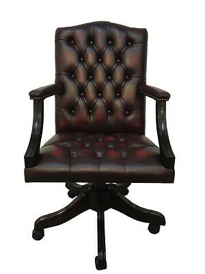 Chesterfield Leather Gainsborough Antique Oxblood Red