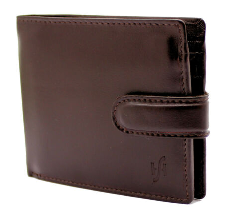StarHide RFID Men Real Leather Wallet With ID /& Coin Pocket Gift Boxed 825 Brown
