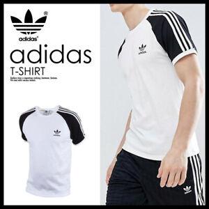 Adidas-Originals-Retro-California-Short-Sleeve-Crew-Neck-Men-039-s-T-Shirt-W-Black