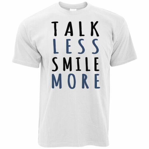 Mens Talk Less Smile More Slogan T Shirt Historic Alexander Hamilton Quote Tee