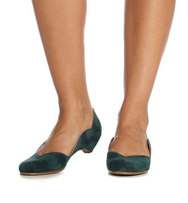 Guava Heel in Green Velvet by Roni Kantor Size 37, 39 Available