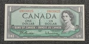 Canada-1954-Beattie-Rasminsky-BC-37b-i-1-00-Banknote-HM-9030625-UNC