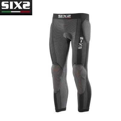 Pantaloni Leggings con fondello con o senza protezioni Moto SIXS BLACK PRO PN2