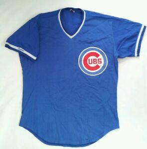 e1b62853d VINTAGE MADE IN USA RAWLINGS CHICAGO CUBS MESH JERSEY IN SIZE 44