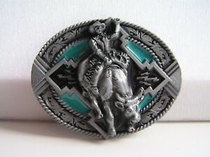 Rodeo Bull Steer Rider Belt Buckle Country Western Cowboy Line ... 6a0698d3137