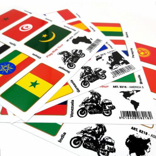 Stickers Adesivi Bandiere Flag Ride Tour Europa 2 per Bauletti Moto