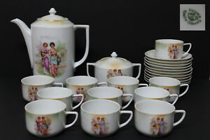 Victoria Czecho - Slovakia  Porcelana  Set de Cafe Vintage. Año 1933 a 1938.