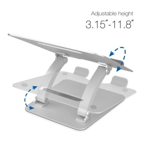 SIIG Adjustable Aluminum Laptop Stand for Macbook and PC CE-MT2C12-S1