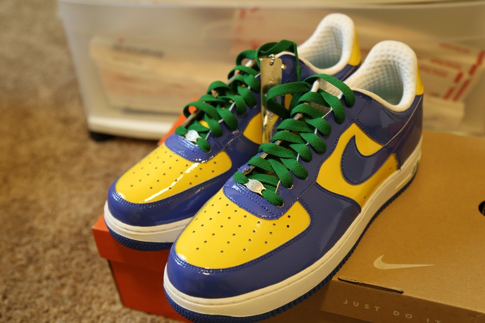 NIKE Air Force One BRAZIL WORLD CUP Authentic Size 10 New DS Authentic CUP  309096 441 PREMIUM 1c82cf