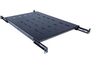 Rack-Server-Vented-Shelf-19-034-Rack-Mount-1U-Adjustable-from-24-034-29-034-Shelves