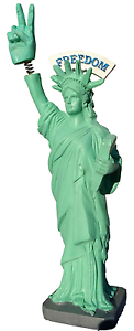 Statue  Of Liberty Bobble Finger BobbleHead Love & Peace Happy Holidays Gift
