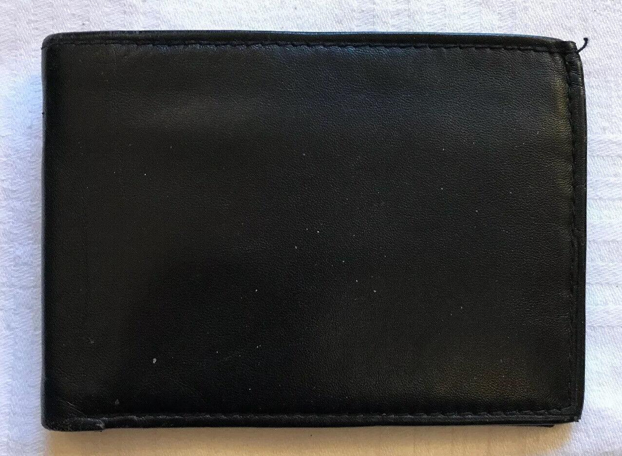 Black Soft Leather Note Wallet 11cm x 8cm Bellini