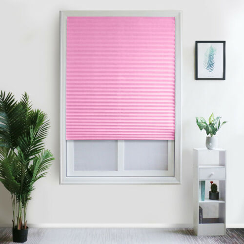Self-Adhesive Pleated Blinds Half Blackout Home Bathroom Windows Curtains Shades