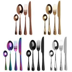 24pc-stainless-Cutlery-rainbow-rose-gold-black-Tableware-set-silverware-wholesal
