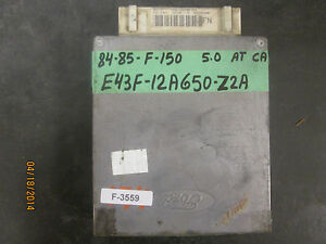 84 85 ford f 150 5 0 a t ca ecu e43f 12a650 z2a ebay 84 Ford Tempo  84 Ford Tempo Interior image is loading 84 85 ford f 150 5 0 a t
