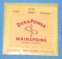 Elgin Watch Mainspring Main Spring 6246 21/0s .0029 .074m/m