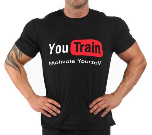 "T-Shirt Bodybuilding Fitness Palestra /"" you train """