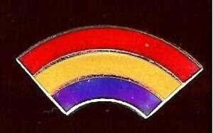 MINI-old-RAINBOW-genuine-CLOISONNE-Enamel-tacpin-Badge
