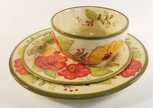 3pc-set-Soup-Cereal-Bowl-with-9-034-and-11-034-plate-Olivia-by-PIER-1-Ready-to-ship
