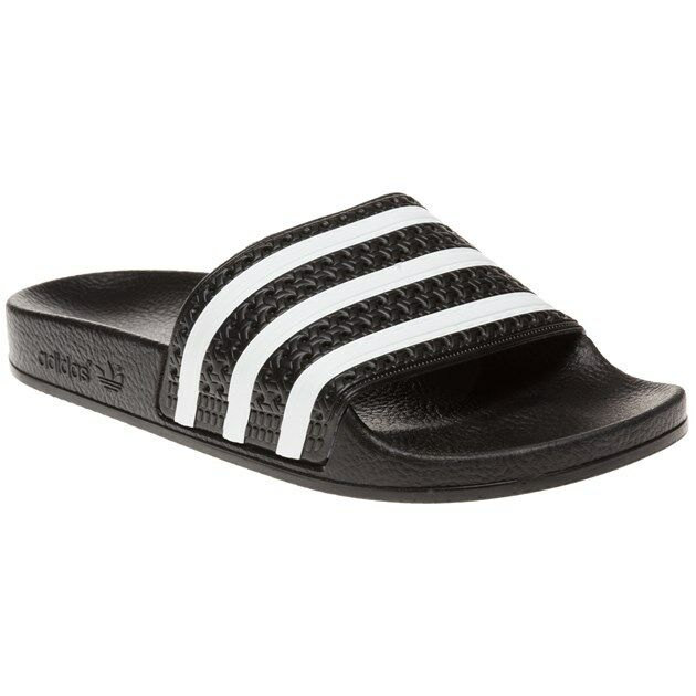 d25d43e2e4728e adidas Adilette Black White Mens Slide Slippers Sandals 3-stripes ...