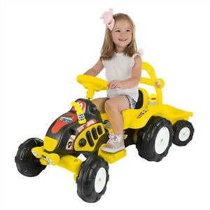 Image Is Loading Ride On Toy Tractor Trailer Battery Ed 3