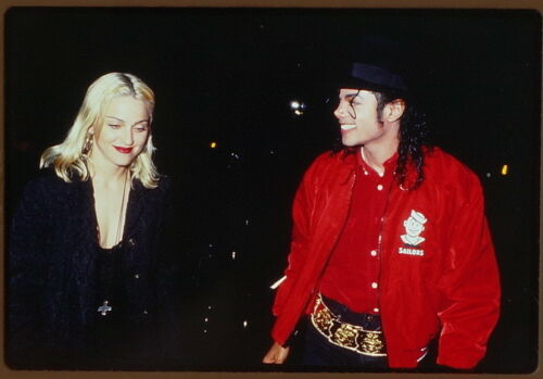 "822 Color Photo Slide Images of Madonna & Michael Jackson on a ""Date"" 491991"