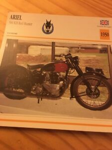 Ariel-500-KH-Rojo-Hunter-1950-Tarjeta-motorrad-Coleccion-Atlas