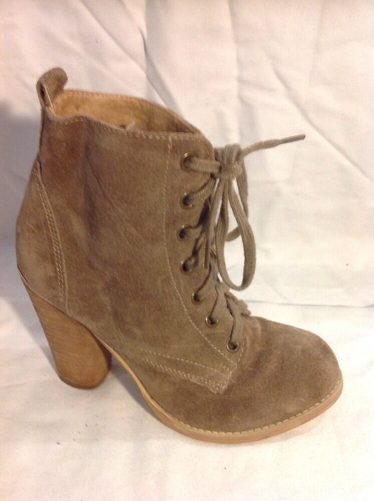 Red Tape Brown Ankle Suede Boots Size 3