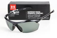 5b7af0ddf2 Under Armour Zone XL Shiny Black Gray Polarized Sunglasses 8600023-5108  LOOK UA