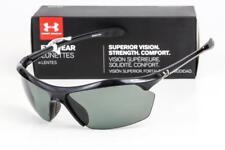 16d3eebebc Under Armour Zone XL Shiny Black Gray Polarized Sunglasses 8600023-5108  LOOK UA