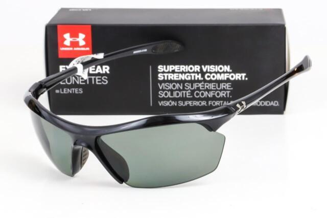 cae6f0554aee Under Armour Zone XL Shiny Black Gray Polarized Sunglasses 8600023 ...
