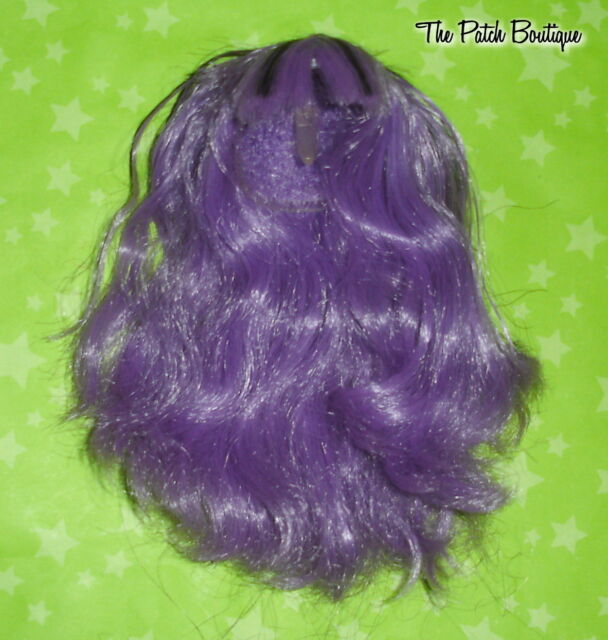 MONSTER HIGH CREATE A MONSTER GIRL DOLL REPLACEMENT SYNTHETIC PURPLE WIG ONLY