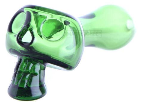 "Skull Bone Head Glass Spoon 4.5/"" Hand Pipe GREEN-American made-Chameleon Glass"