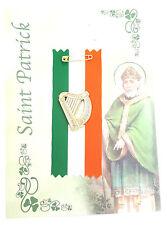 Saint Patrick's Day Irish Celebration Harp On Ireland Ribbon Badge