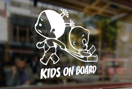 25cm Kids on board childrens baby Vinyl Stickers Decal Car Auto Glass Window