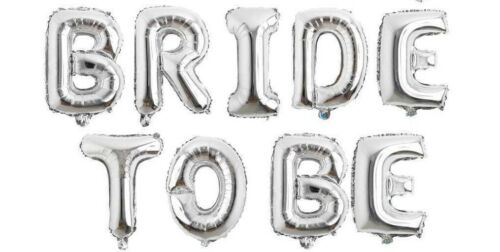 "Bride To Be 16""40cm Silver Foil Balloons Hens Partys Bridal Showers Weddings"