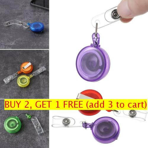 Name Card Stationery Anti-Lost Clip Key Ring Lanyards Retractable Badge Holder
