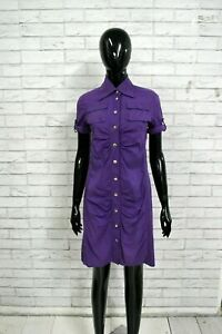 PATRIZIA-PEPE-Vestito-Tubino-Donna-40-Abito-Dress-Kimono-Kleid-Viola-Elastico