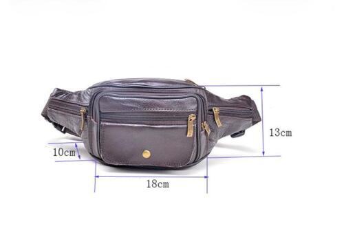 Men Geniune Leather Waist Money Bags Fanny Packs Sports Belt  Cell Phone Purse