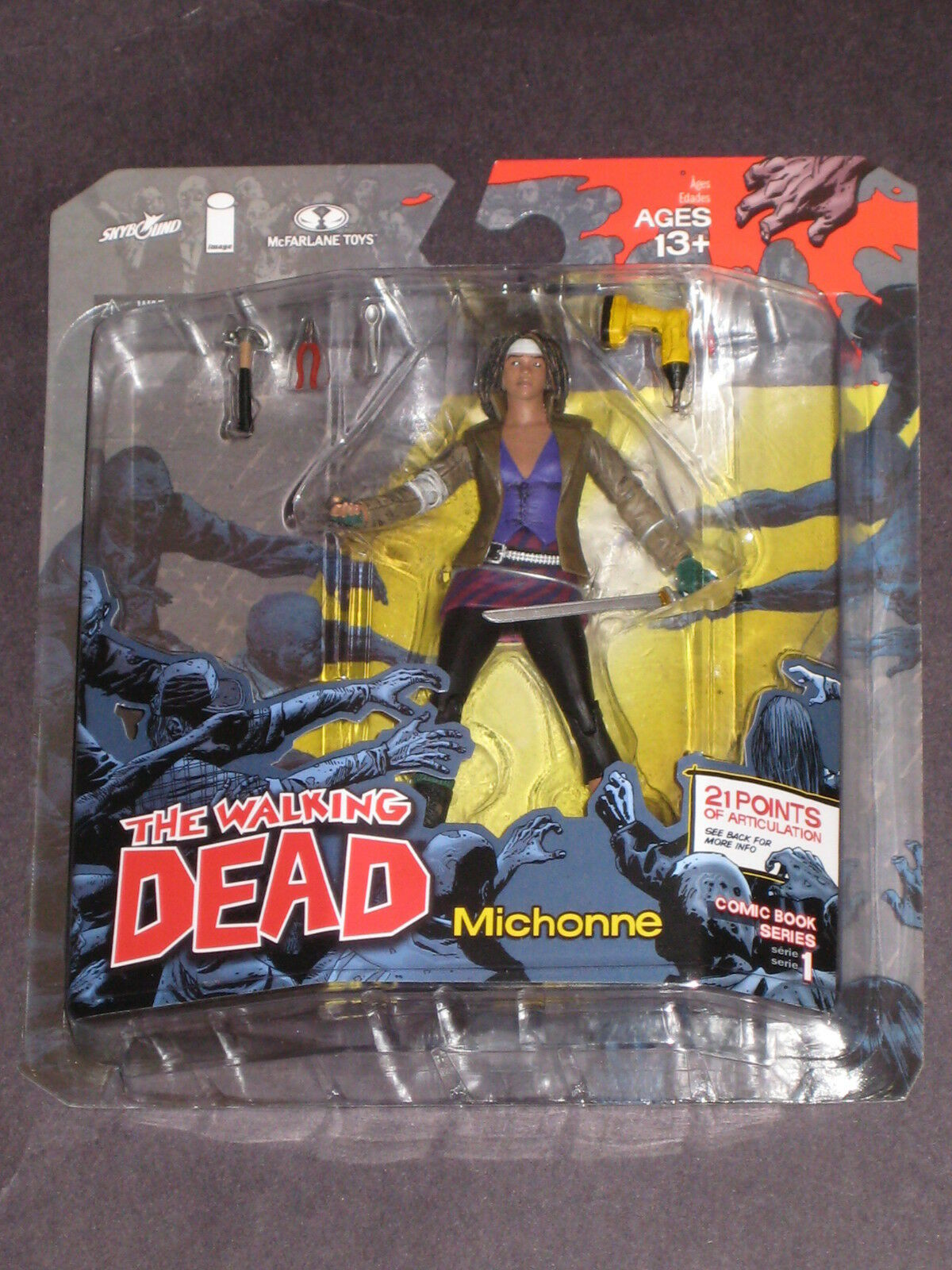 THE WALKING DEAD COMIC SERIES 1 MICHONNE FIGURE IMAGE KIRKMAN MCFARLANE