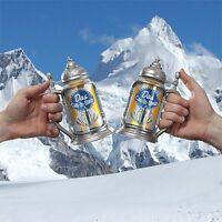 2 Set Lot Das Can In Stein W Flip Lid Makes A Beer Or Soda A Fun Tankard Mug