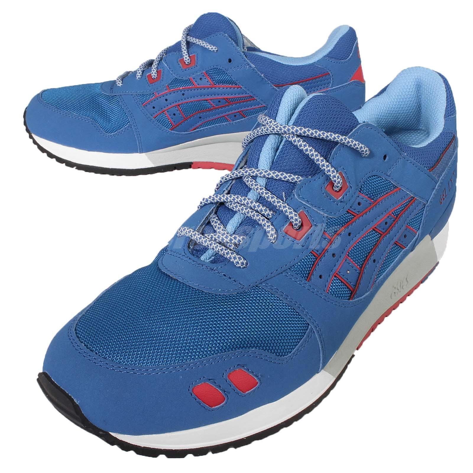 Asics Tiger Gel-Lyte III 3 Future Pack azul rojo Mens Retro zapatillas H637Y-4242