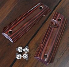 1911 grips - full size Red diamond wood + Black Torx grip screws, 1911 parts,