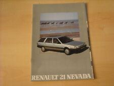 50594) Renault R21 Nevada Österreich Prospekt 06/1988